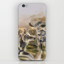 Totem wolf Sunset iPhone Skin