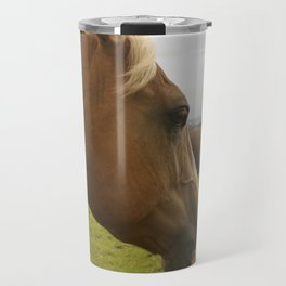 Horses in a Field Travel Mug