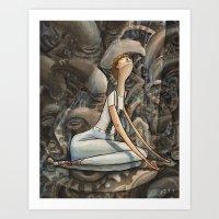 ripley Art Prints featuring Ripley - Aliens by Patt Kelley