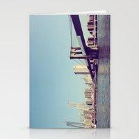 brooklyn bridge Stationery Cards featuring Brooklyn Bridge  by Shilpa