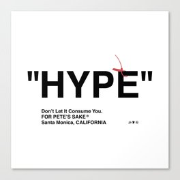 """HYPE"" Canvas Print"
