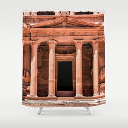 Treasury Entrance at the ruins of Petra, Jordan Shower Curtain