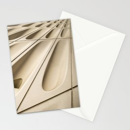 Architectural abstract of the Broad (rhymes with road), Los Angeles, California Stationery Cards