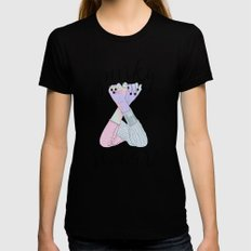 Pinky Swear Black Womens Fitted Tee LARGE