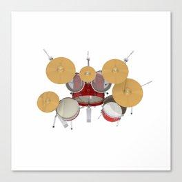 Red Drum Kit Canvas Print