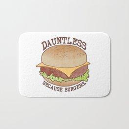 Dauntless - Because Burgers Bath Mat