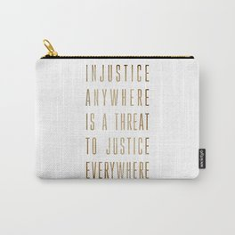 Martin Luther King Typography Quotes Carry-All Pouch