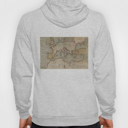 Vintage Map of Europe and The Mediterranean (1569) Hoody