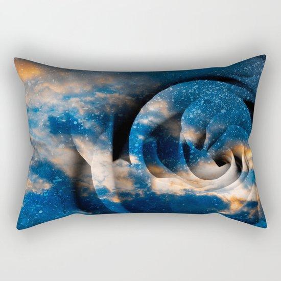 Phoenix Fury Rose Rectangular Pillow