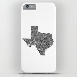 Typographic Texas iPhone Case