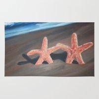 starfish Area & Throw Rugs featuring Starfish by Lark Nouveau Studio