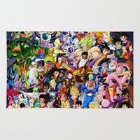 dragonball z Area & Throw Rugs featuring DragonBall Z - Insane amount of Characters by Mr. Stonebanks