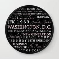 jfk Wall Clocks featuring JFK  by Steph Snyder