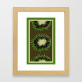 Kiwi Splash Gingham Bright Framed Art Print