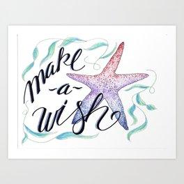 Make a Wish Art Print