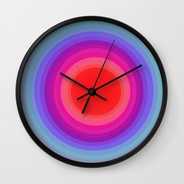 from cold to warm Wall Clock