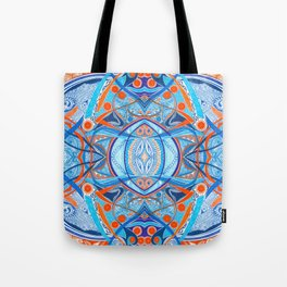 Acrobats 4 Symmetrical design Tote Bag