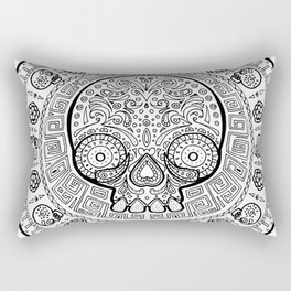 Skull mexican art from the Path to Mictlan Rectangular Pillow