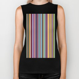 Colorful Symphony of Summer Biker Tank