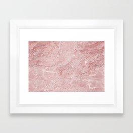 Blush Pink Marble Framed Art Print