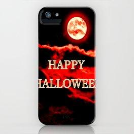 Happy Halloween Red Moon iPhone Case
