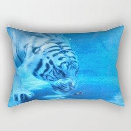 Diving Tiger Rectangular Pillow