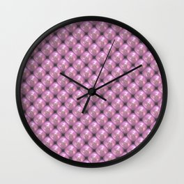 Pink Pearls Wall Clock