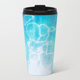 Cosmo + Celeste ( Colorful Cosmological Night Sky Couple in Love ) Travel Mug