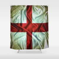 england Shower Curtains featuring England flag. by DesignAstur
