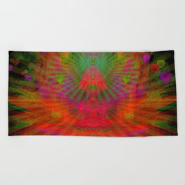 Love Radiation Meditation Beach Towel