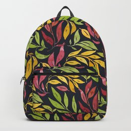 Loose Leaves - warm colors Backpack