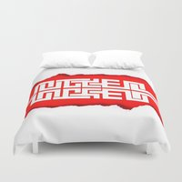 swag Duvet Covers featuring Red Swag by Azeez Olayinka Gloriousclick