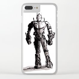 Robot ink drawing Clear iPhone Case