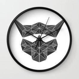 lowpolycybercat Wall Clock