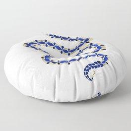 Navy & Gold Serpent Floor Pillow