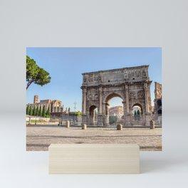 Triumphal Arch of Constantine near Colosseum - Rome, Italy Mini Art Print