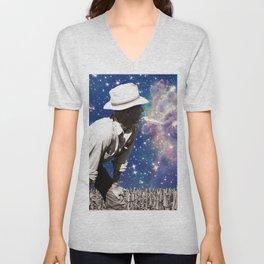 People of the Universe-Astro Farmer in Purple Unisex V-Neck
