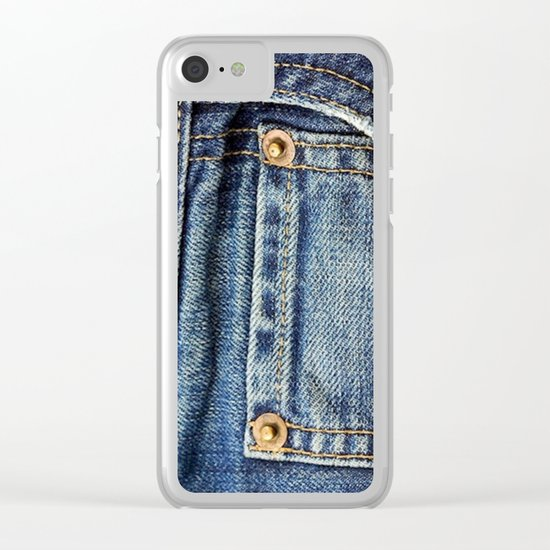 Texture #17 Jeans Clear iPhone Case