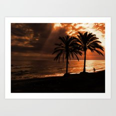Marbella Sunset Art Print