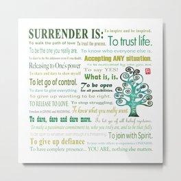 Surrender Metal Print