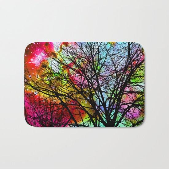 Rainbow Tree Bath Mat