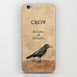 Crow, Message Bringer iPhone Skin