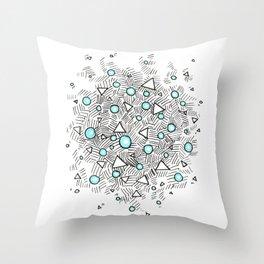 Shiny Bubbles Throw Pillow