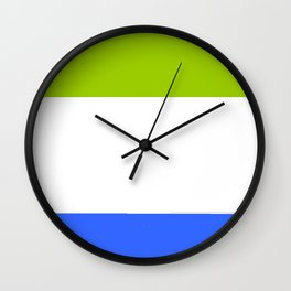 Flag of sierra leone 2 -salone,Sierra Leonean,Leone,Sierra Leona,freetown. Wall Clock