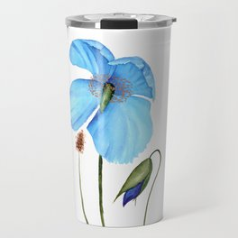 Blue Poppy Travel Mug