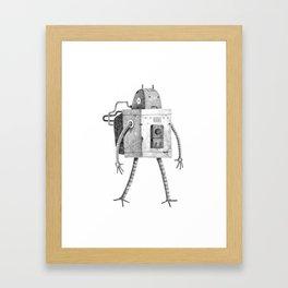 Hardworking Bot Framed Art Print