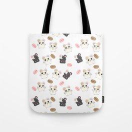 Hamsters and Macarons Tote Bag