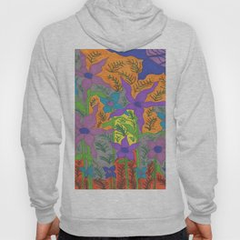 Violets in the Sky Boho Floral Hoody