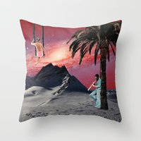 chill Throw Pillows featuring Chill by Liall Linz