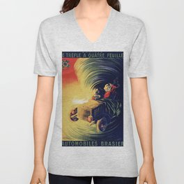Vintage CAR - Automobiles Brasier Unisex V-Neck